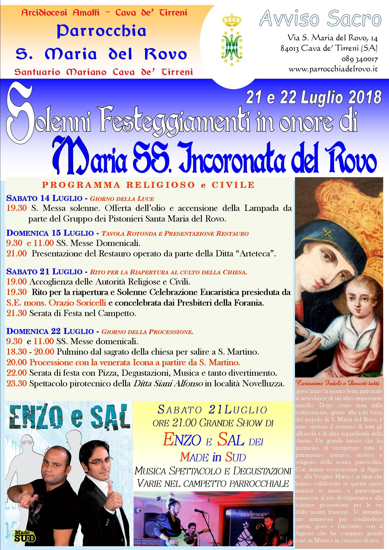 Manifesto Festa Rovo 2018