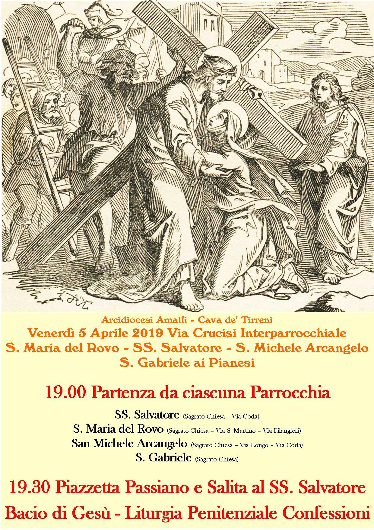 Locandina Via Crucis Interparrocchiale