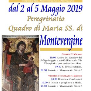 Locandina Peregrinatio Madonna Montevergine