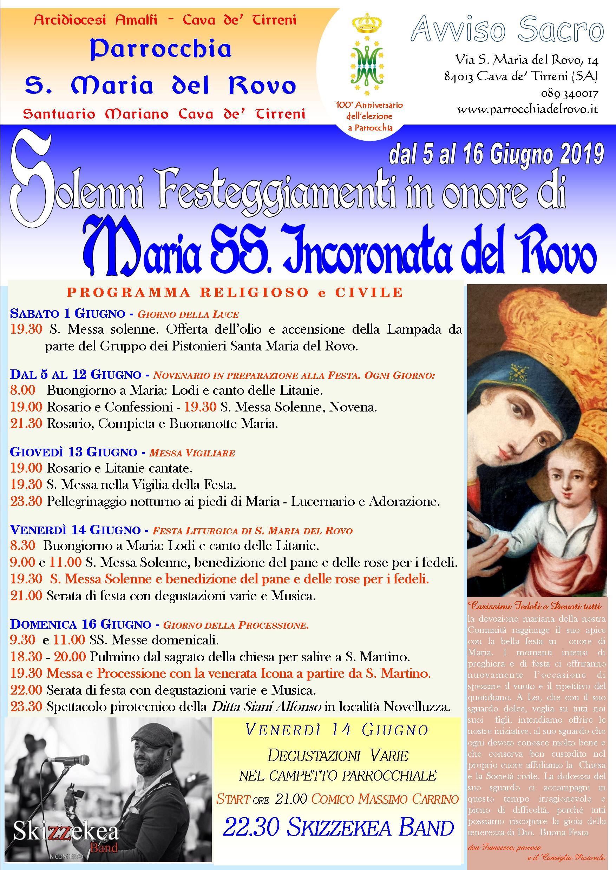 Manifesto Festa Rovo 2019
